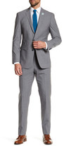 Vince Camuto Grey Notch Lapel Two Button Slim Fit Solid Wool Suit