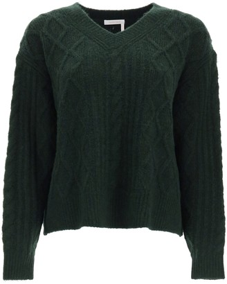 See by Chloe Cable Knit V-Neck Jumper