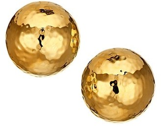 Nest Large Hammered 22K Goldplated Dome Clip-On Earrings