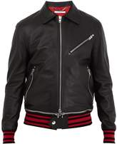 Givenchy Point-collar leather jacket