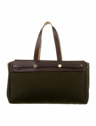 Hermes Herbag Cabas MM green