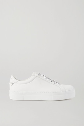 Givenchy Urban Street Leather Platform Sneakers - White