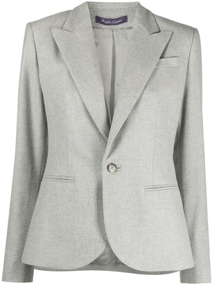 Ralph Lauren Purple Label Single-Breasted Wool Blazer