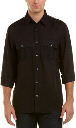 Billy Reid Brantley Linen Standard Fit Woven Shirt