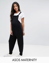Asos Dungaree Jumpsuit In Jersey