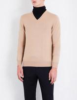 Gieves & Hawkes V-neck wool jumper