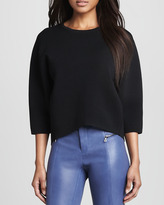 Ready to Wear Griffith Cropped Knit Sweater