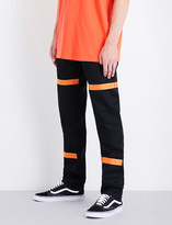 HERON PRESTON Raw regular-fit high-rise woven jeans