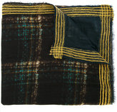 Faliero Sarti plaid striped edge scarf