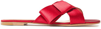 Gianvito Rossi Obi Bow-embellished Satin Slides