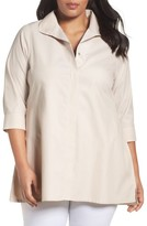 Foxcroft Plus Size Women's Skye Non-Iron Tunic Shirt