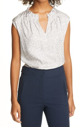 Tailored by Rebecca Taylor Sleeveless Silk Blend Top
