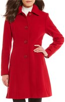 Preston & York Wool Fit-And-Flare Point Collar Coat