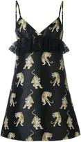 Giamba tiger jacquard dress