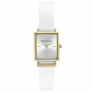 BCBGMAXAZRIA Women's Classic Stainless Steel Japanese-Quartz Watch with Leather Strap