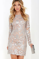 Dress the Population Grace Silver Sequin Dress