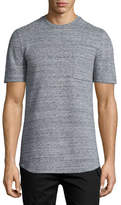 Helmut Lang Melange Short-Sleeve Crewneck T-Shirt, Gray