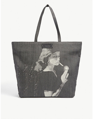 Undercover Smoking Lady graphic-print cotton tote