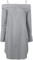 Robert Rodriguez off-shoulders striped mini dress - women - Cotton - 0