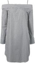 Robert Rodriguez off-shoulders striped mini dress - women - Cotton - 2