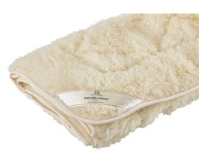 Sleep & Beyond Mydual, Washable and Reversible Wool Mattress Pad, Queen