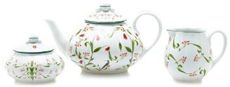 Stephanie Fishwick Porcelain Teapot, Sugar And Cream Cabaret Set
