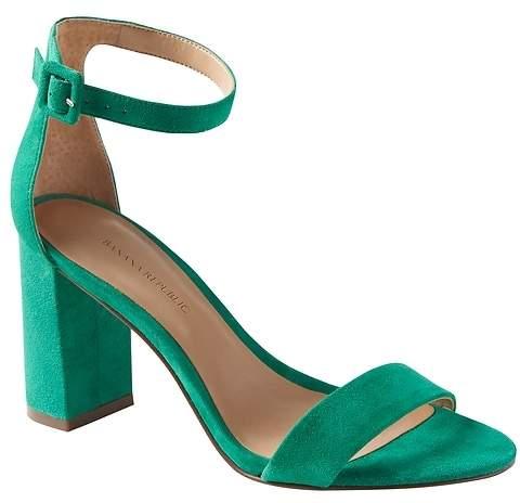80fed9a64e Green Block Heel Women's Sandals - ShopStyle