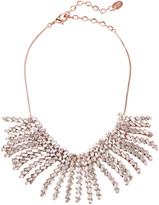 Erickson Beamon War Of Roses rose gold-plated Swarovski crystal necklace