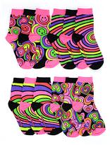 LittleMissMatched Hearts & Stripes Ankle Socks Set