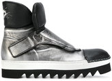 Rocco P. metallic (Grey) monk strap boots
