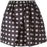 No.21 square print skirt