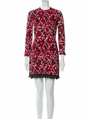 Proenza Schouler Printed Mini Dress Red