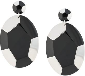 Josie Natori Deco clip-on earrings