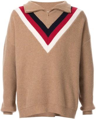 Ports V half-zip jumper