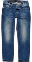 River Island Mens Mid blue wash Dean straight jeans