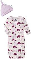 Kickee Pants Layette Gown Converter Set (Baby) - Bubble Elphant - 6-12 Months