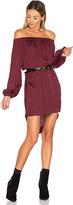 One Teaspoon San Cerena Shoulder Dress in Burgundy