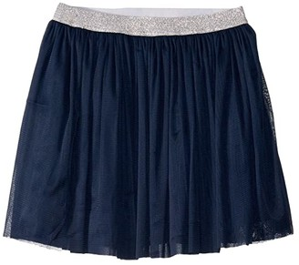 Toobydoo Tulle Skirt with Sparkle Belt (Toddler/Little Kids/Big Kids) (Navy) Girl's Skirt
