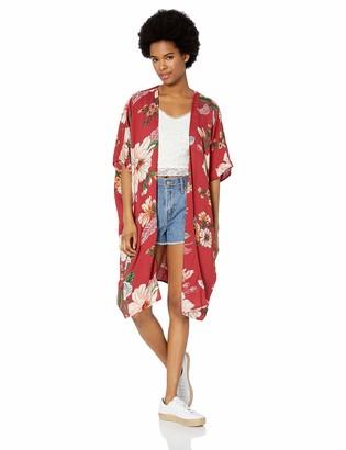 Angie Women's Boho Long Duster Kimono Cardigan