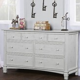 Three Posts Conyers 7 Drawer Dresser Color: Antique Mist