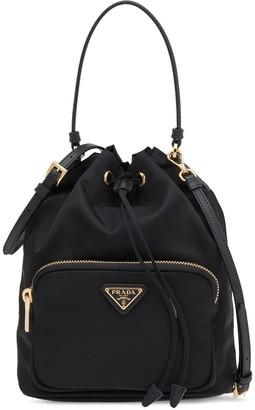 Prada Black Fabric Bucket Bag