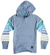 Quiksilver Boys' Striped Sleeve Hooded Pullover - Sizes 4-7