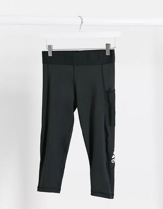 adidas Training leggings with pocket in black
