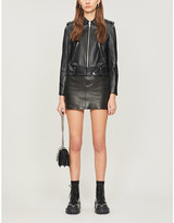 The Kooples Collared leather jacket