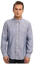 Jack Spade Men's Cormac Chambray Work Shirt Blue 2XL