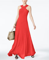 MICHAEL Michael Kors Cross-Neck Maxi Dress