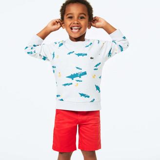 Lacoste Boys Croc Print Cotton-Blend Sweatshirt