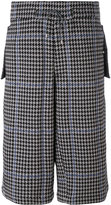 Oamc houndstooth shorts - men - Cotton/Polyester/Cupro - M