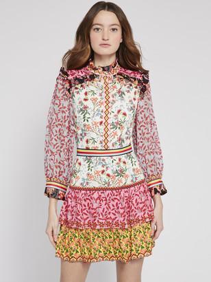 Alice + Olivia Kathy Floral Mini Dress