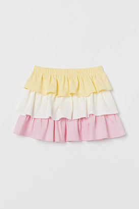 H&M Tiered Jersey Skirt - White